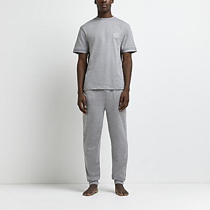 Grey marl Greek t-shirt and joggers set