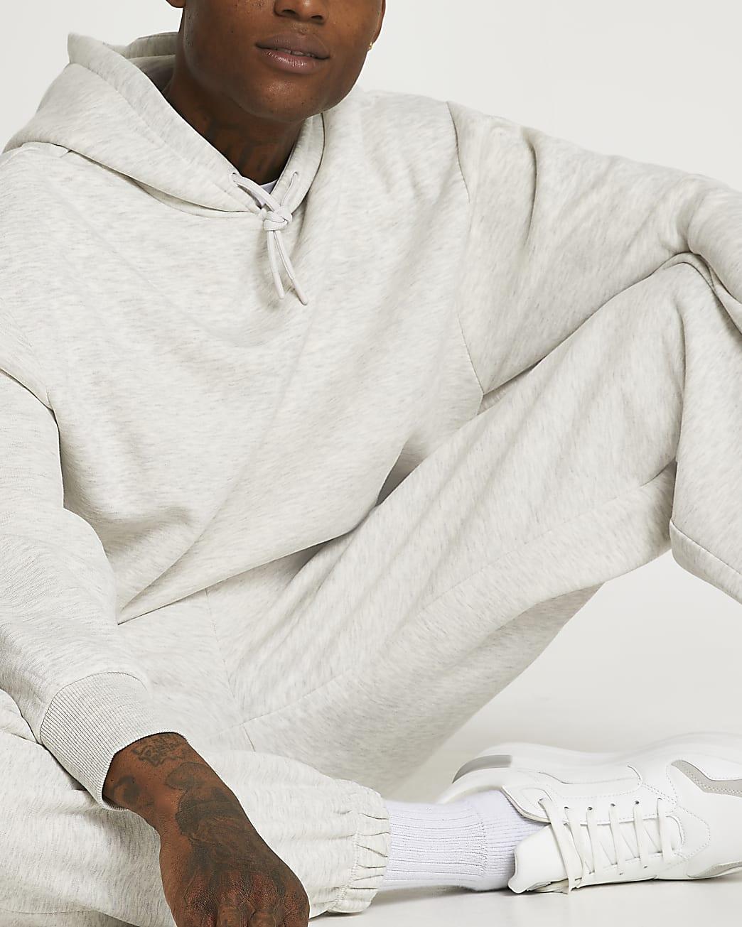 Grey marl oversized hoodie
