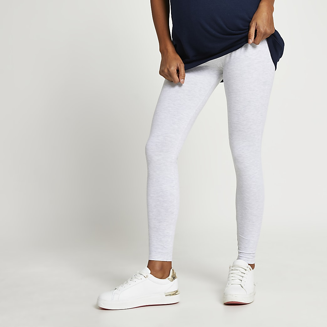 Grey maternity high waisted leggings