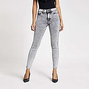 Grey Molly mid rise jeggings