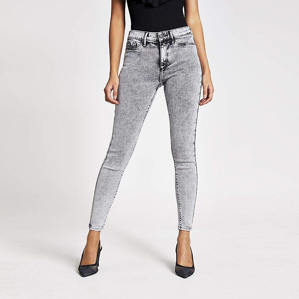 Molly – Jegging taille mi-haute gris