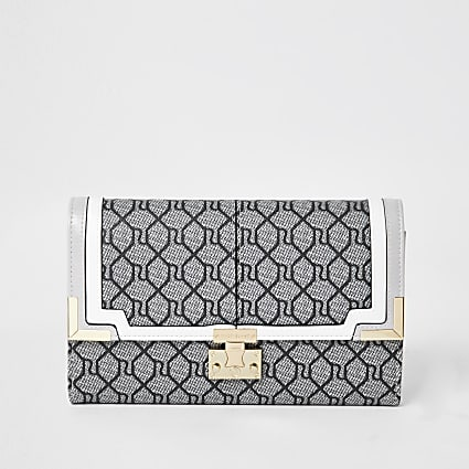 Grey Monogram Travel Wallet