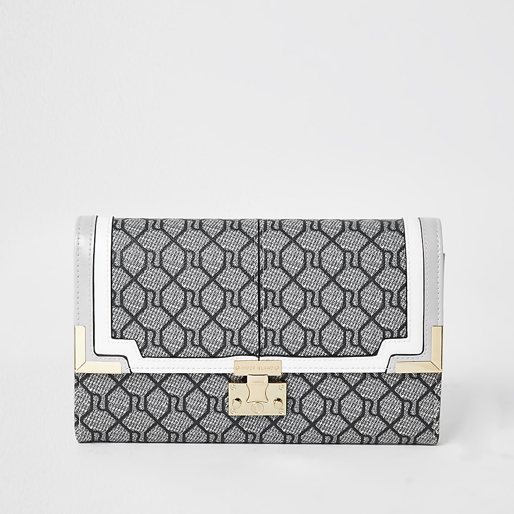 Grey Monogram Travel Wallet