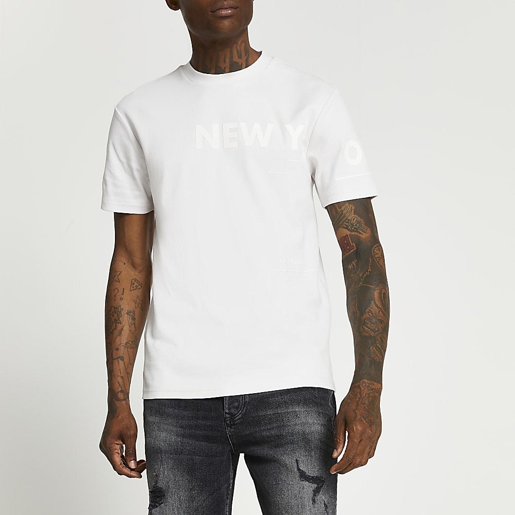 Grey New York graphic t-shirt