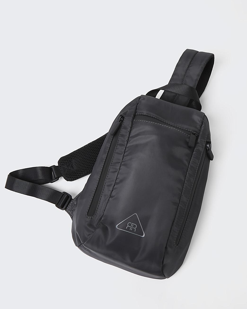 Grey nylon strap backpack