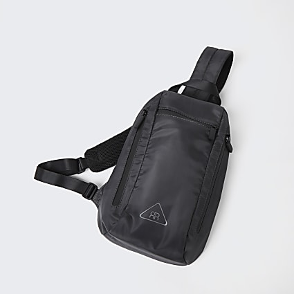 Grey nylon strap backpack