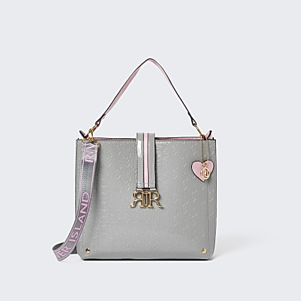 Grey OG Patent RIR Slouchy Bag