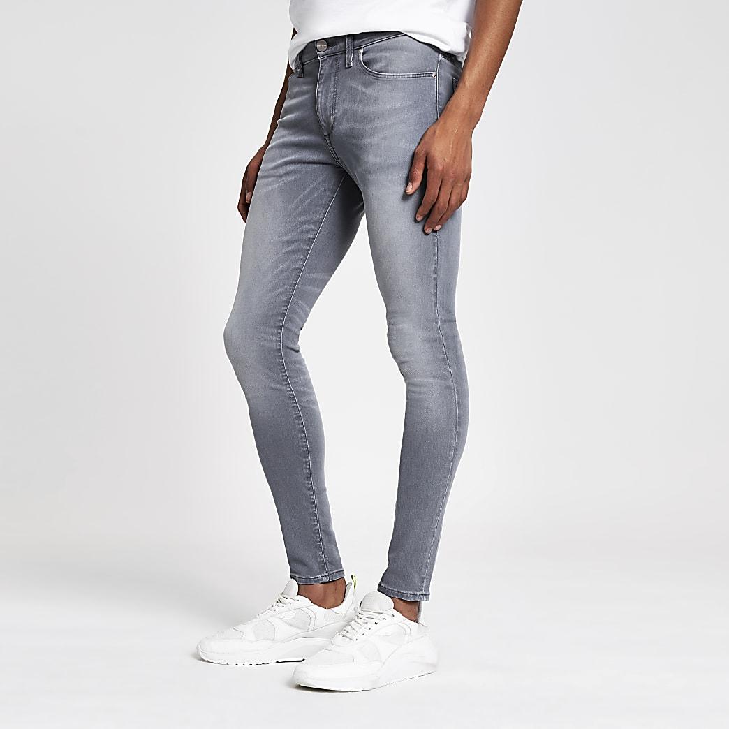 Ollie - Grijze spray-on skinny jeans
