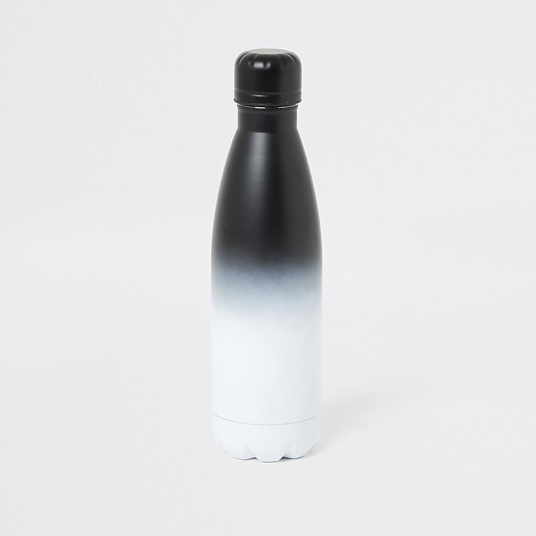 Grey ombre fade water bottle