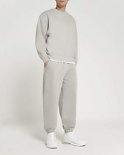 Grey oversized fit joggers