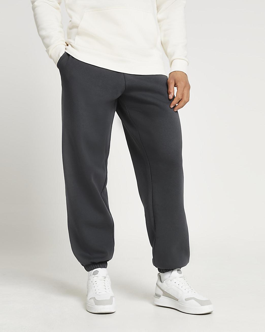 Grey oversized joggers