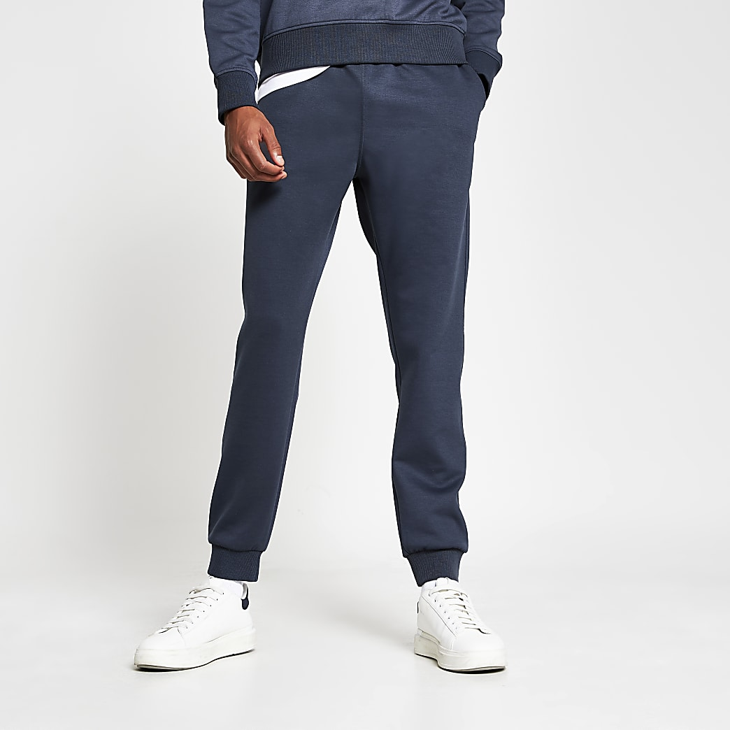 Grey premium slim fit joggers