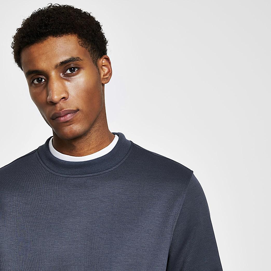 Grey premium slim fit sweatshirt