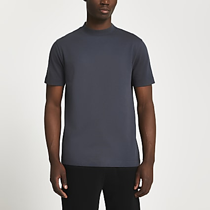 Grey premium slim fit t-shirt