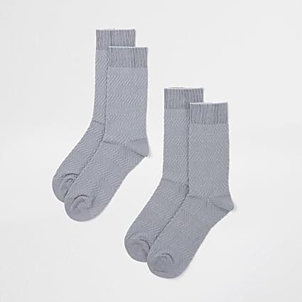 Grey premium socks 2 pack