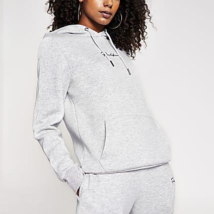 Grey Prolific long sleeve hoodie