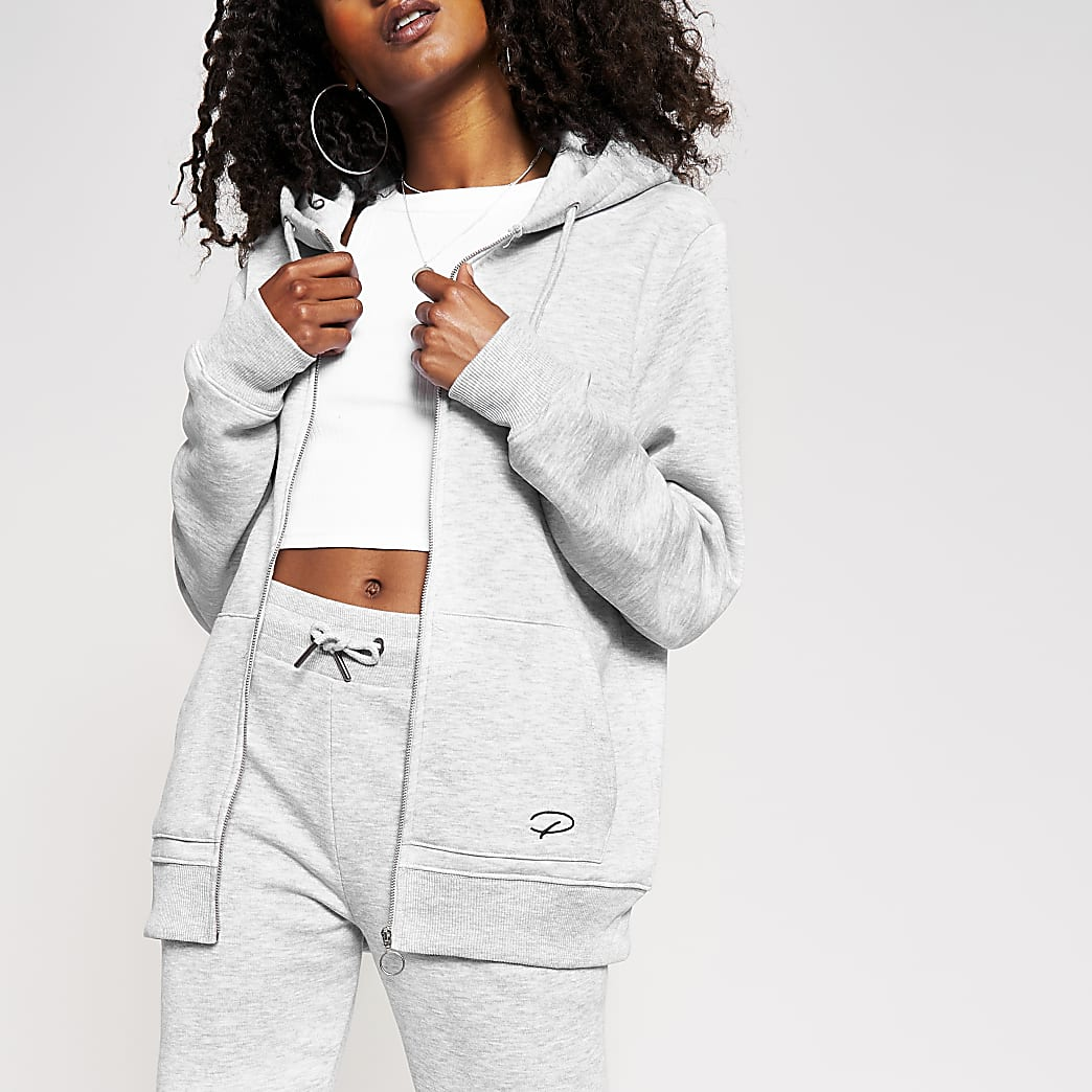 Grey Prolific slim long sleeve hoody