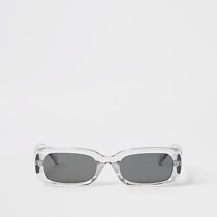 Grey rectangle shape sunglasses