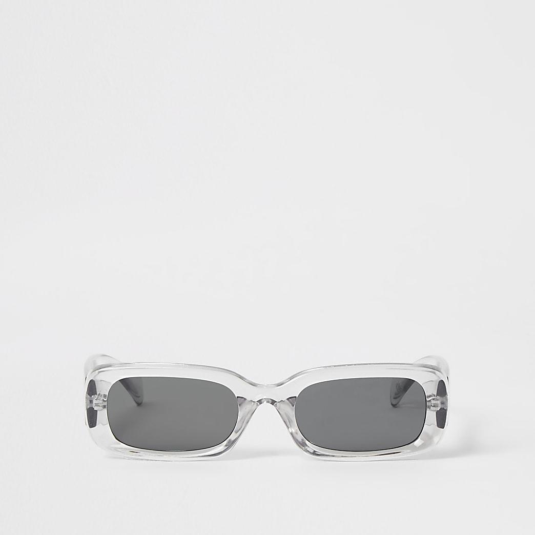 Grijze rechthoekige zonnebril