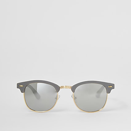 Grey retro frame sunglasses