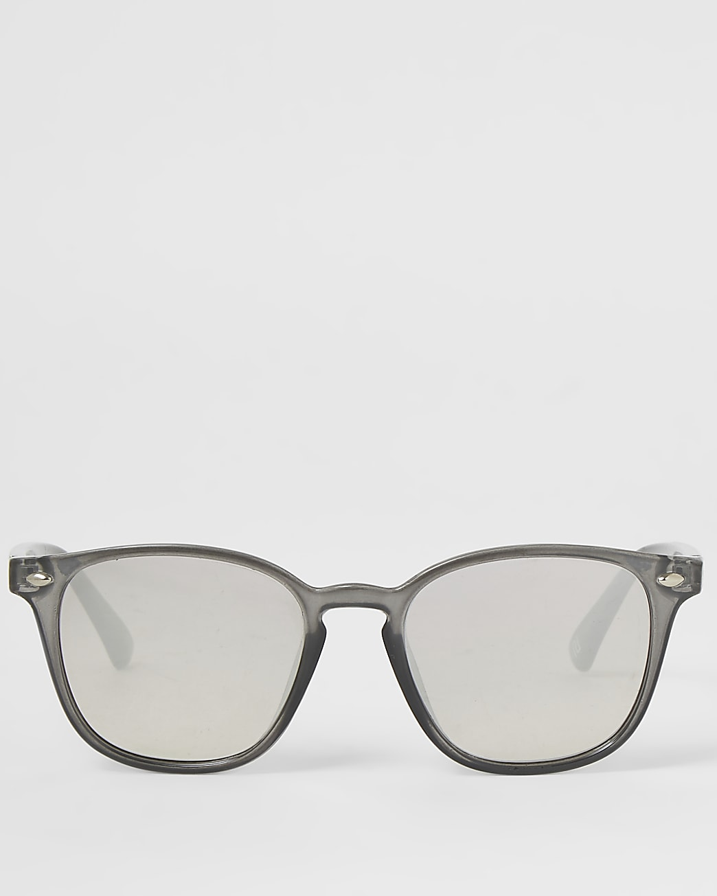 Grey retro shape slim sunglasses