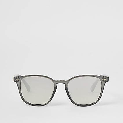 Grey retro shape slim sunglasses