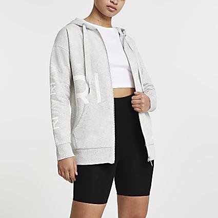 Grey RI Active zip through hoodie