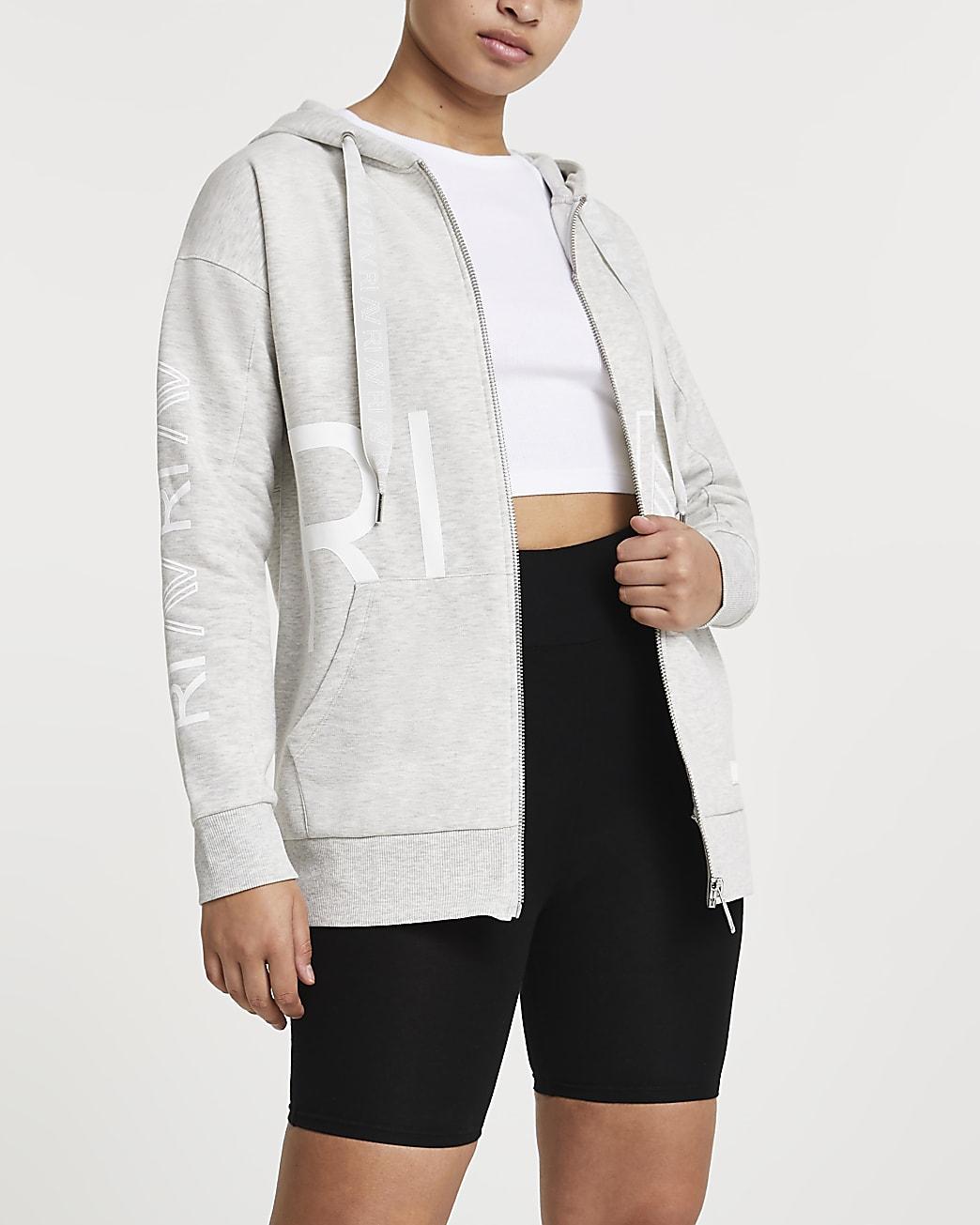 Grey RI Active zip up hoodie