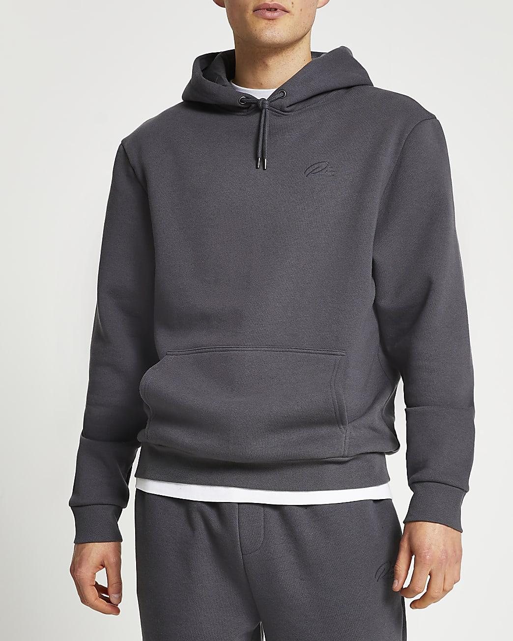 Grey RI branded hoodie