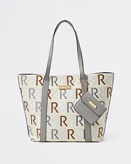 Grey RI branded shopper bag