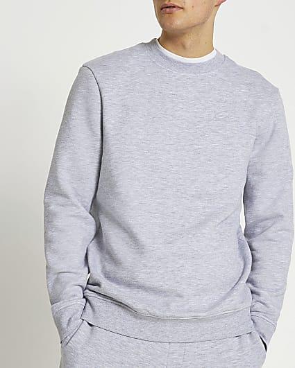 Grey RI branded slim fit sweatshirt