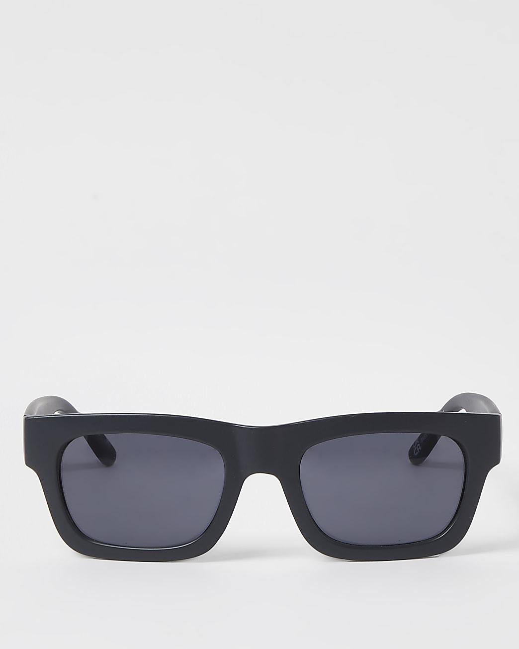 Grey RI branded square frame sunglasses