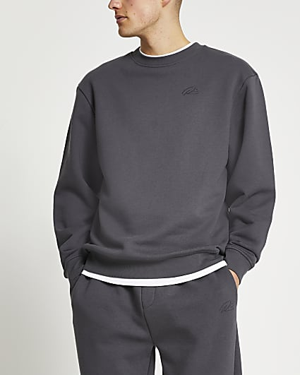 Grey RI branded sweatshirt
