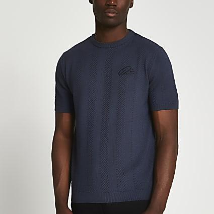 Grey RI chevron t-shirt
