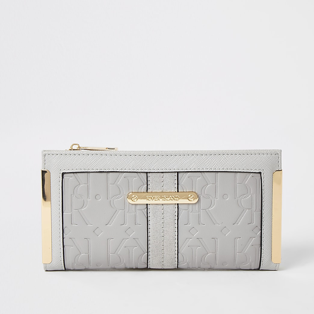 Grey RI embossed fold out purse
