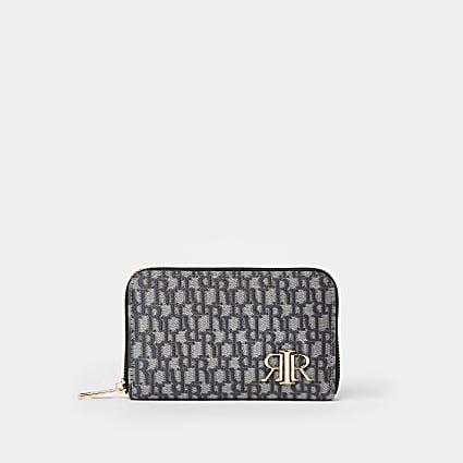 Grey RI jacquard purse