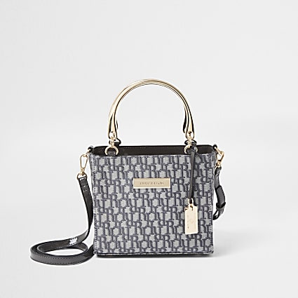 Grey RI jacquard tote bag