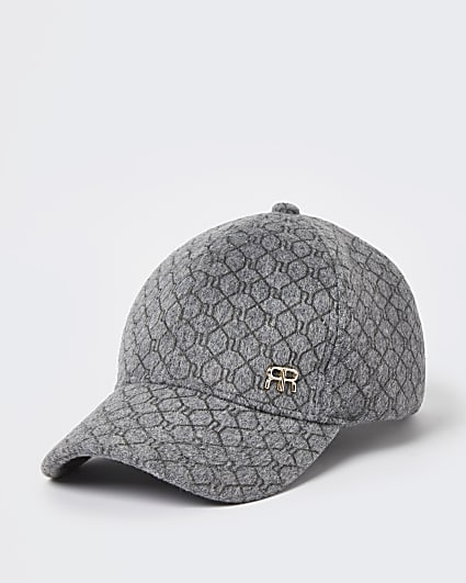 Grey RI monogram cap
