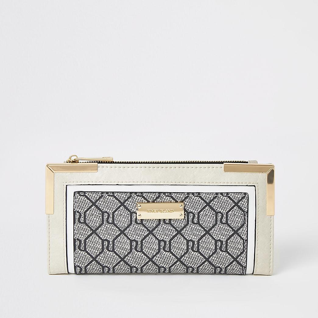 Grey RI monogram fold out purse