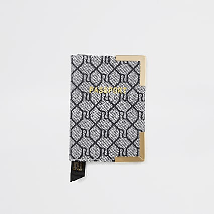 Grey RI Monogram Passport