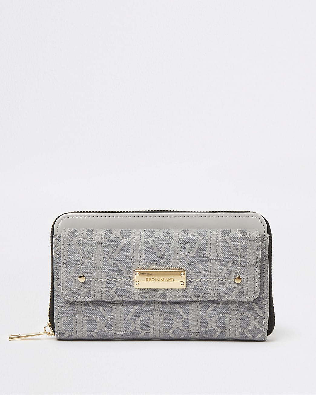 Grey RI monogram purse