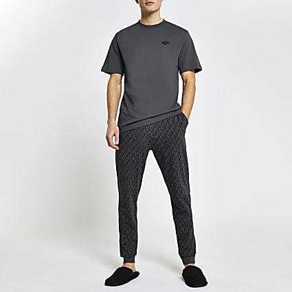 Grey RI monogram pyjama set