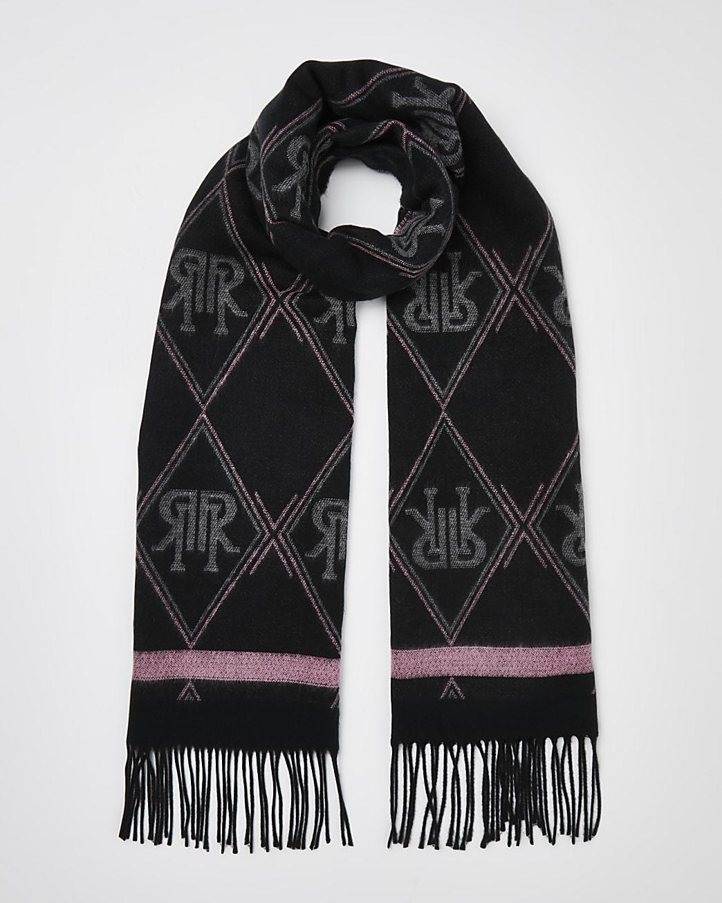 Grey RI monogram scarf
