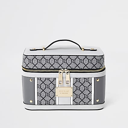 Grey RI Monogram Vanity Case