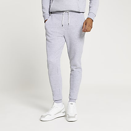 Grey RI muscle fit joggers