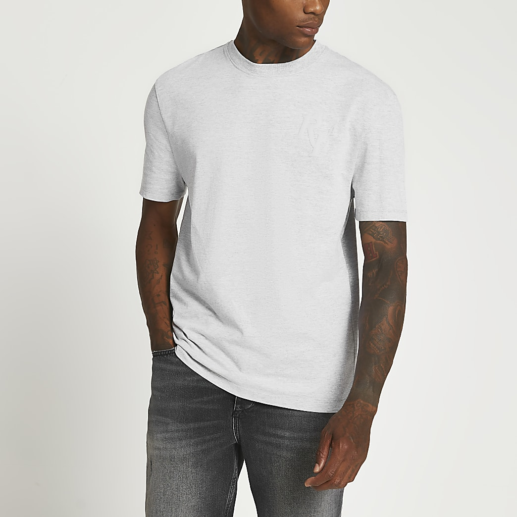Grey RI short sleeve t-shirt