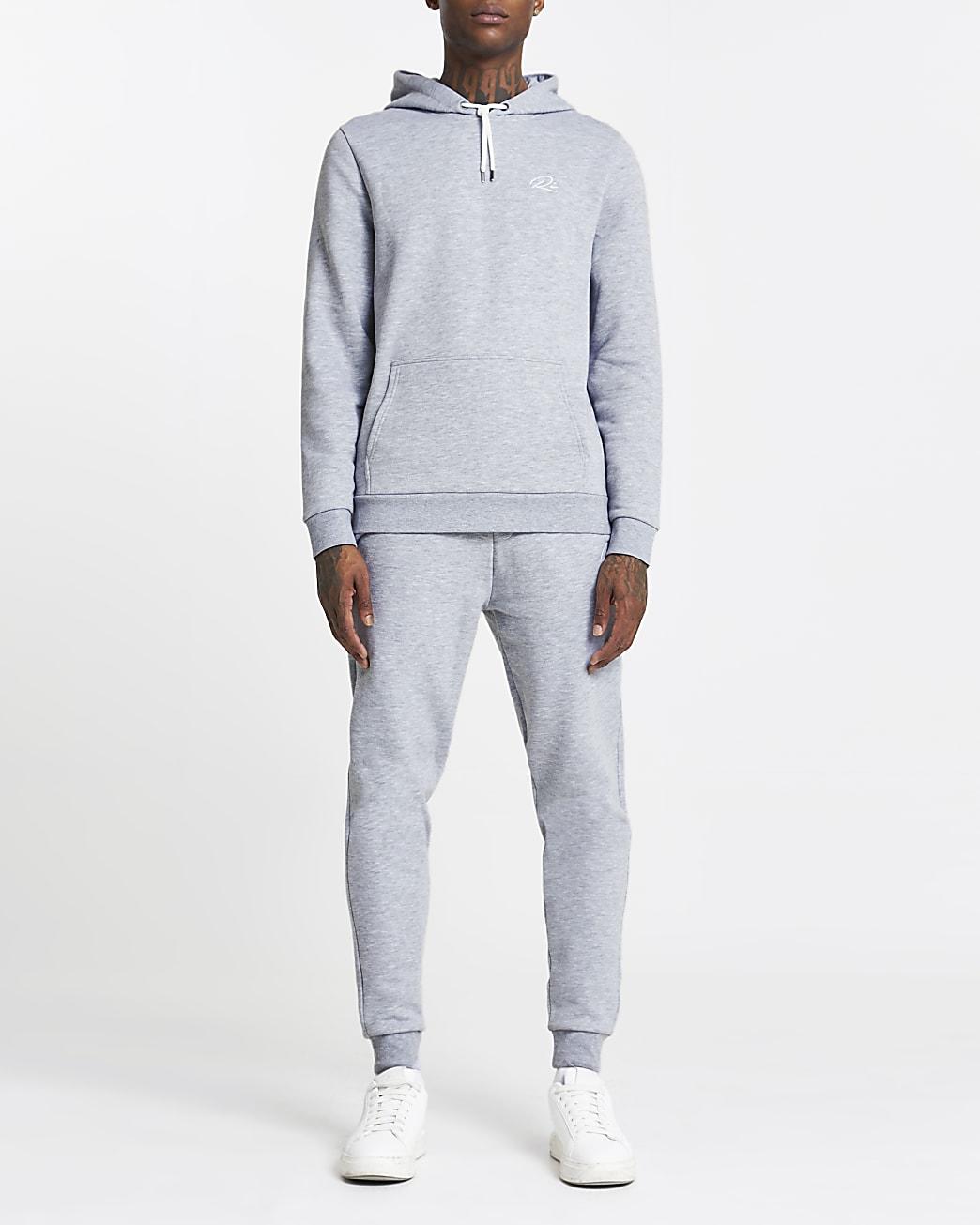 Grey RI slim fit hoodie
