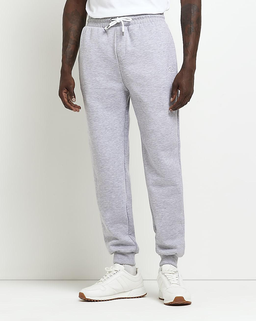 Grey RI slim fit joggers