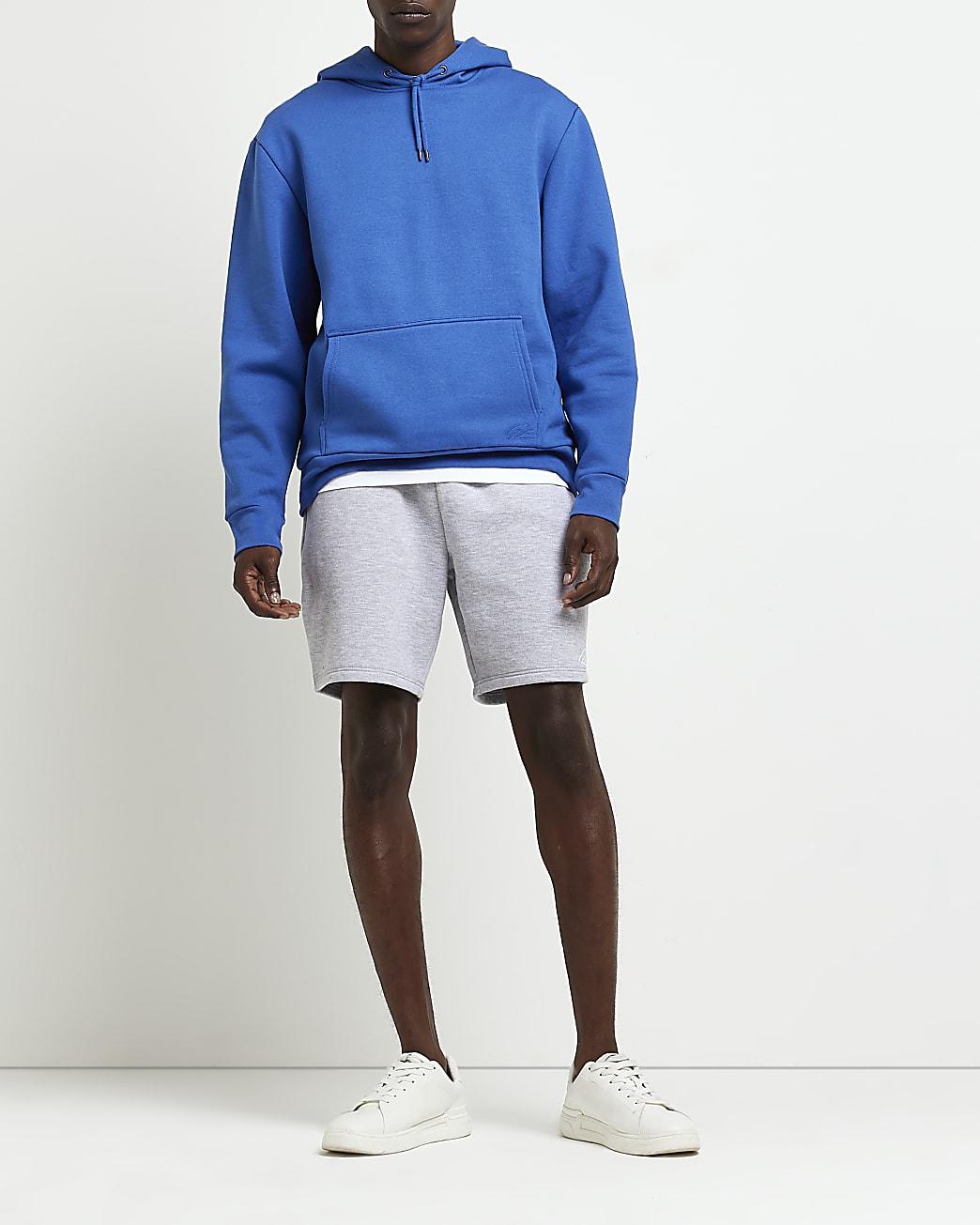 Grey RI slim fit shorts