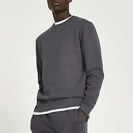 Grey RI slim fit sweatshirt